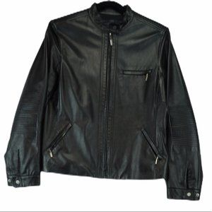 Elie Tahari 100% Leather Jacket Black